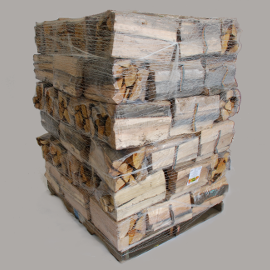 bundled firewood pallet